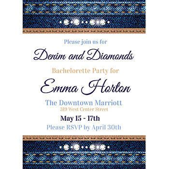 Denim and Diamond Stationery Card Invitations Surprise 60th - fundraiser invitation templates