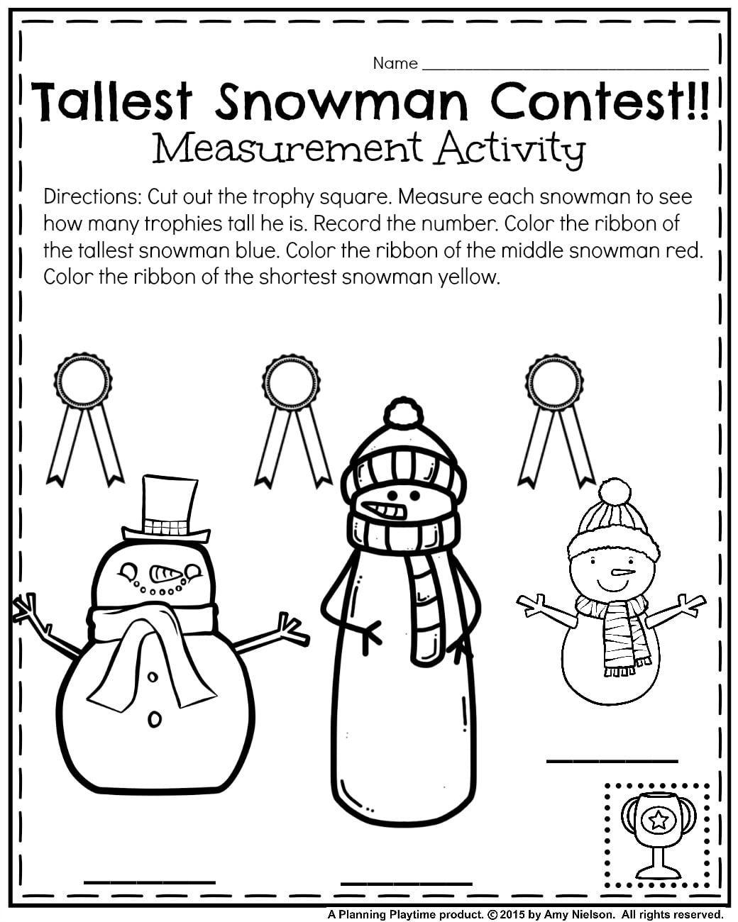 January Kindergarten Worksheets K1 Reading Pinterest