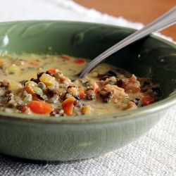 Minnesota Wild Rice Soup is a rich and hearty soup that will keep you warm when it's cold outside.
