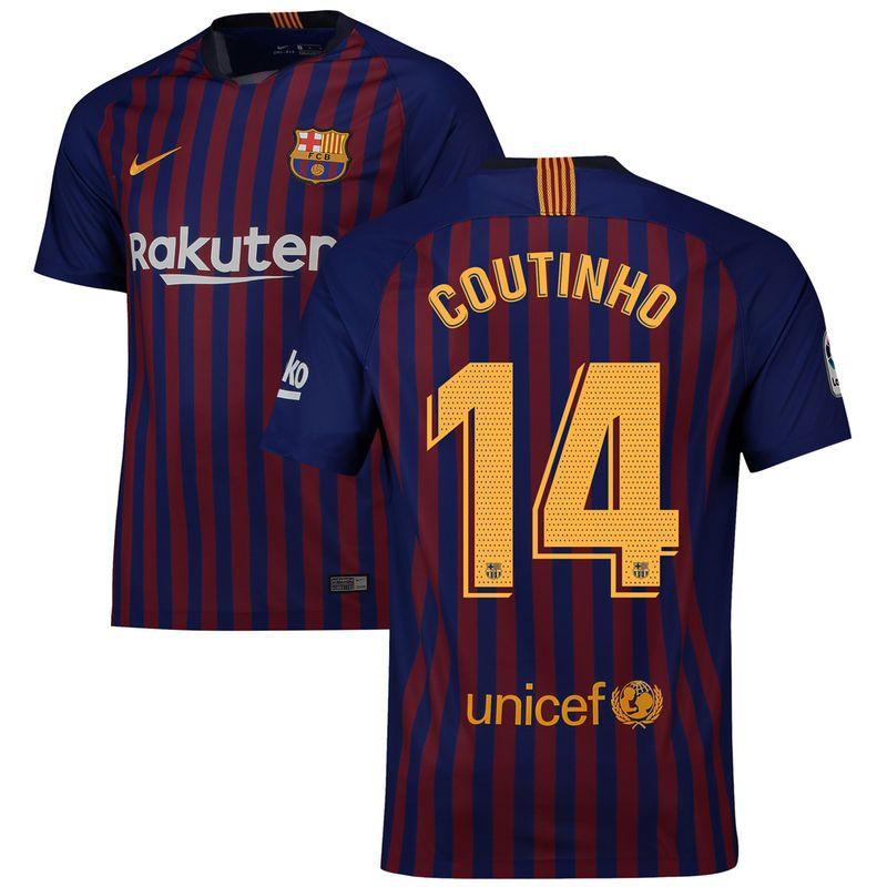 547fd3cca25 Philippe Coutinho Barcelona Nike 2018 19 Home Replica Stadium Player Jersey  – Blue