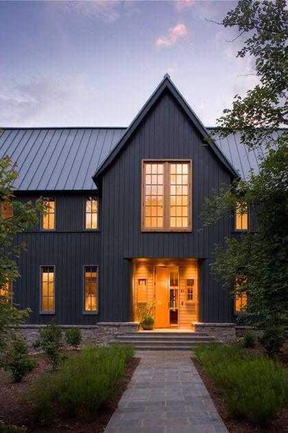 Vertical Clapboard Gray House Exterior Modern Farmhouse