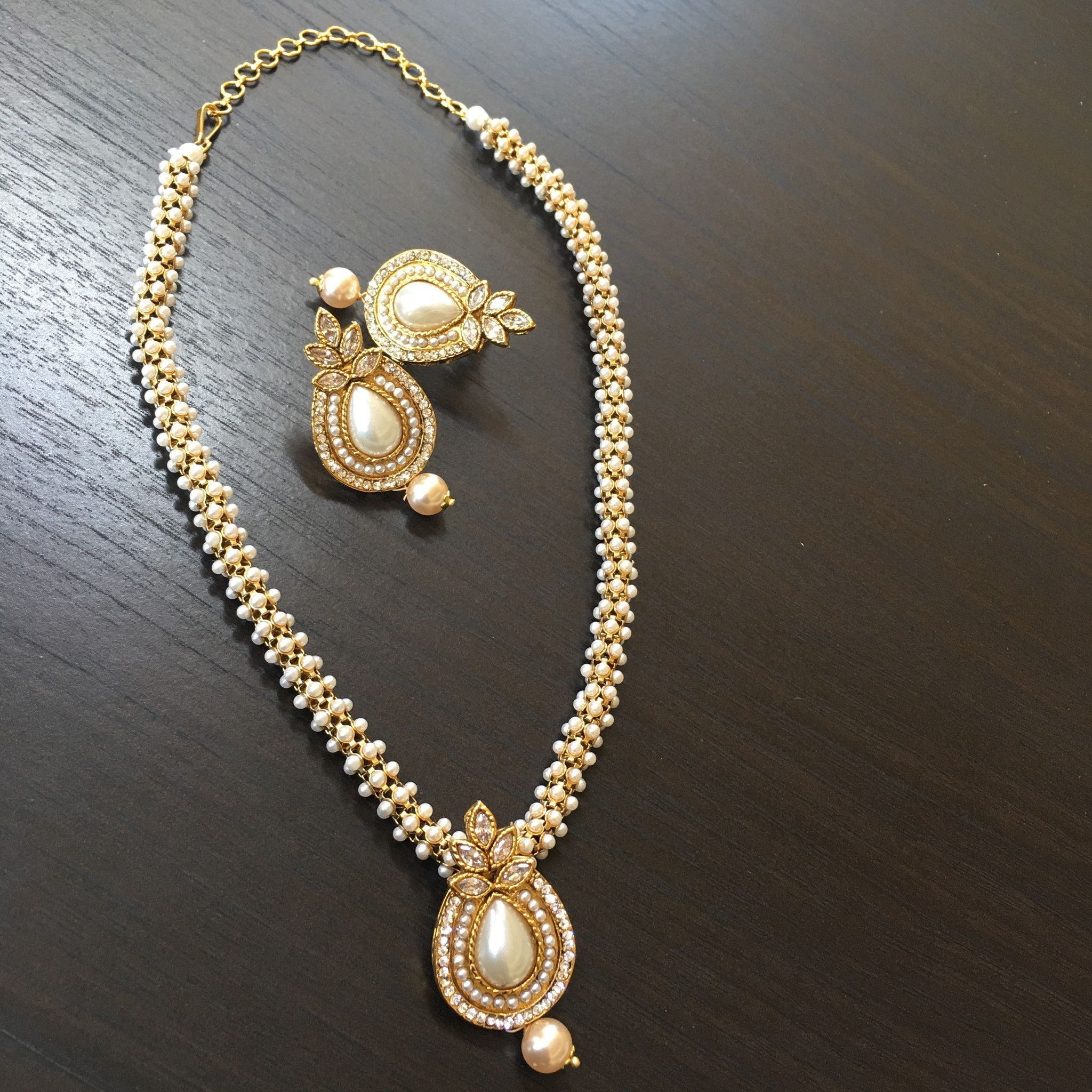 Pearl pendant weaved moti chain products pinterest chains