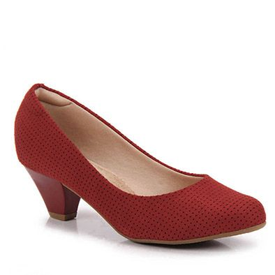 Sapato Scarpin Conforto Feminino Modare - Vermelho