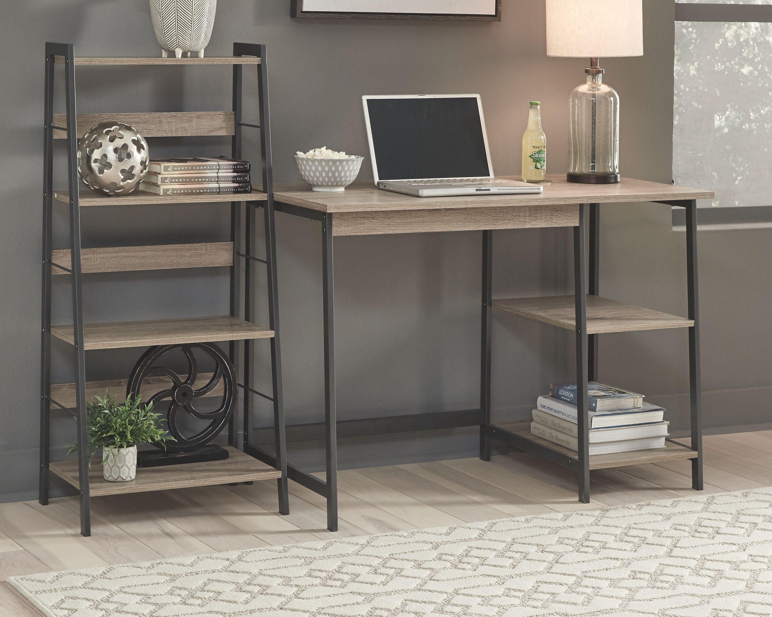 Soho Home Office Desk With Shelf Ashley Furniture Homestore Home Office Desks Sleek Desk Desk Shelves