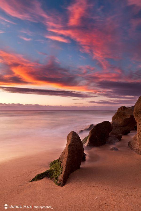 sunset santa cruz portugal gamme de couleur paysage. Black Bedroom Furniture Sets. Home Design Ideas
