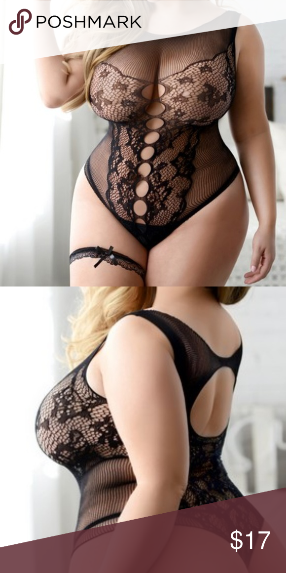 522081264f2 PLUS SIZE BODYSTOCKING LINGERIE LACE UP PLUS SIZE Sheer Lace Bodystocking  Sheer lace and fishnet bodystocking. This all-in-one lingerie combines the  ...