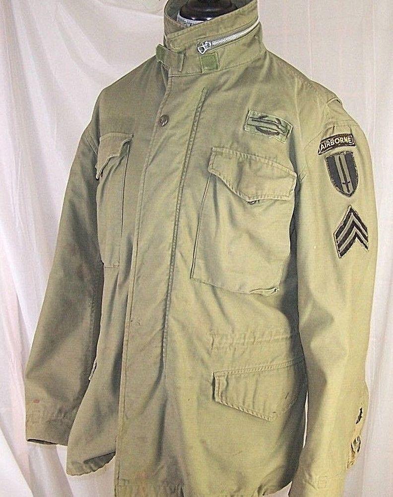 US Army Military M-1965 M65 Cold Weather Field Coat Jacket OG-107 Large Reg  VTG  Unbranded  Military 85243ec4f