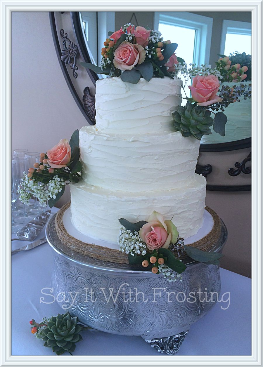Decoration ideas for 40th wedding anniversary  Rustic Wedding on Cake Central  th Anniversary  Pinterest