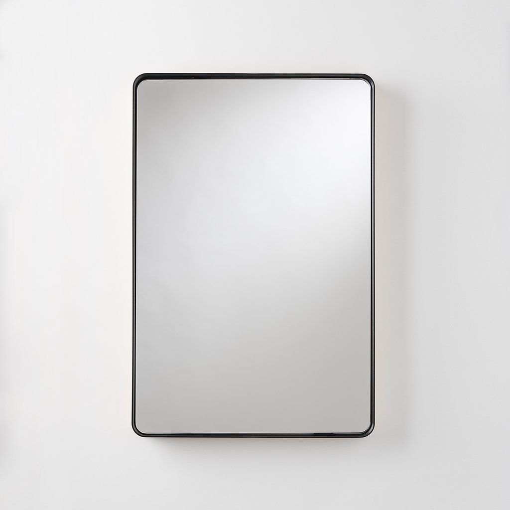Deco Mirror 20 In W X 32 In H Framed Rectangular Beveled Edge Bathroom Vanity Mirror In Champagne Silver 1204 The Home Depot In 2021 Beaded Mirror Mirror Wall Framed Mirror Wall