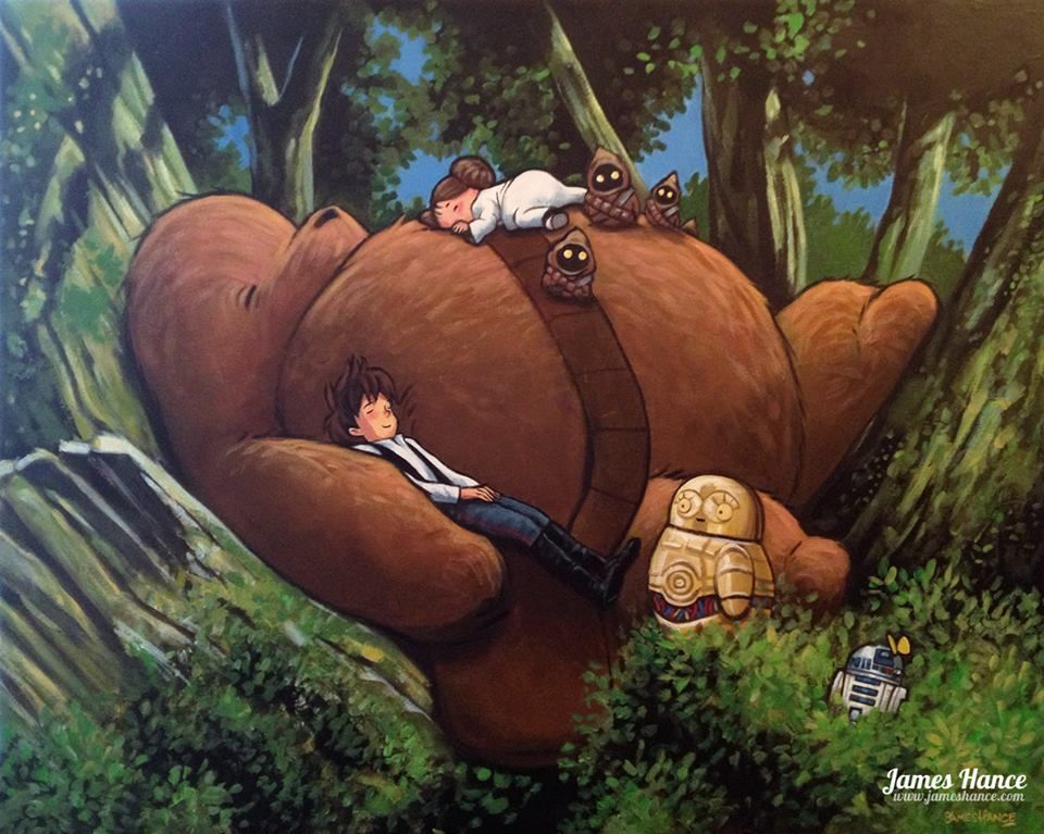 Latest Painting King Of The Forest Star Wars My Neighbor Totoro Acrylic On Canvas Star Wars Art Cheerful Art Star Wars Theme