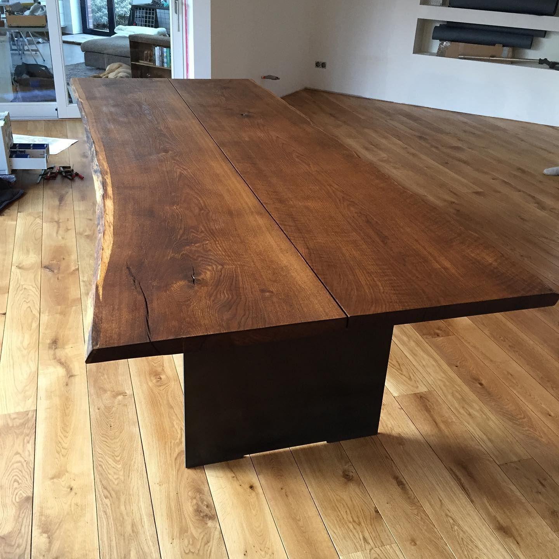 Beautiful Oak Table in 3  Wood floor finishes, Oak table, Wood