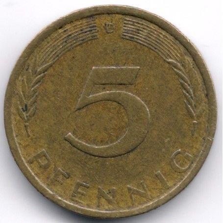Germany 5 Pfennig 1971 D Veiling in de Duitsland,Europa (niet of voor €),Munten,Munten & Banknota's Categorie op eBid België | 144589403