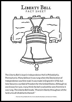 Free Printable Liberty Bell Worksheet Liberty Bell Facts And