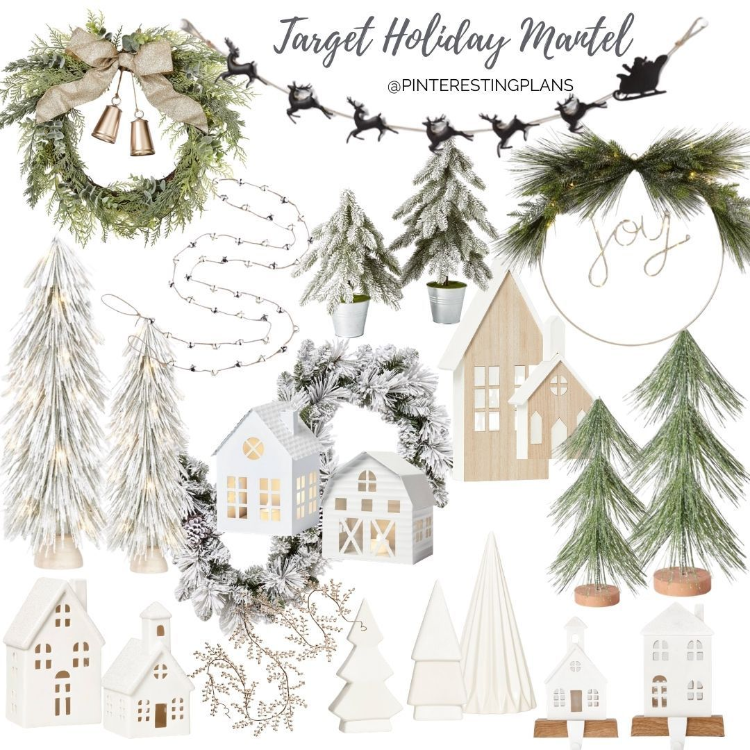 Neutral Target Holiday Mantel Decor Pinteresting Plans In 2020 Target Christmas Decor Holiday Decorations Christmas Outdoor Holiday Mantel Decor