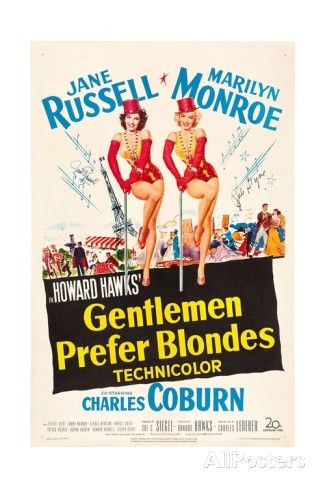Howard Hawks' Gentlemen Prefer Blondes, 1953,