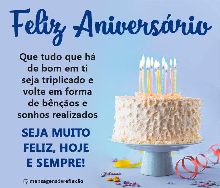 Feliz Aniversário com Bênçãos Triplicadas — Mensagens de Reflexão | Feliz  aniversário amiga, Feliz aniversário evangélico, Feliz aniversário