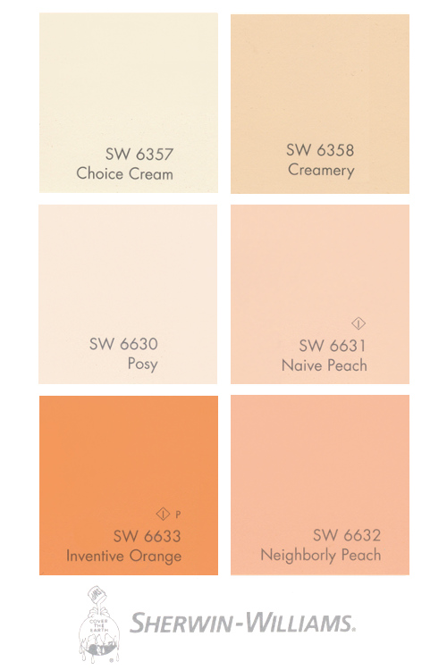 Shades Of Orange Paint sherwin williams paints | paint: rooms & swatches | pinterest