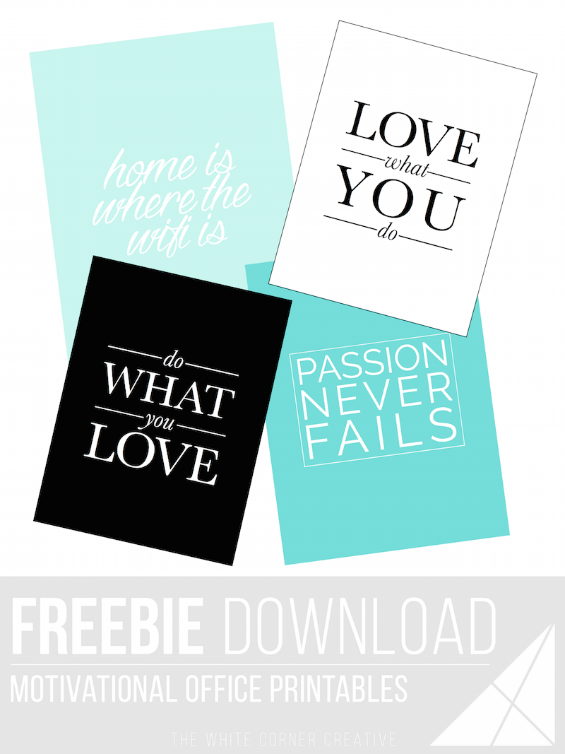 Looking for a way to brighten up your work space? Try these free office printables to get some motivation back into your work week!