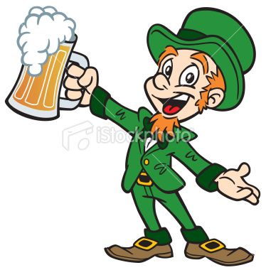 Great illustration of a leprechaun with a beer. Perfect ...