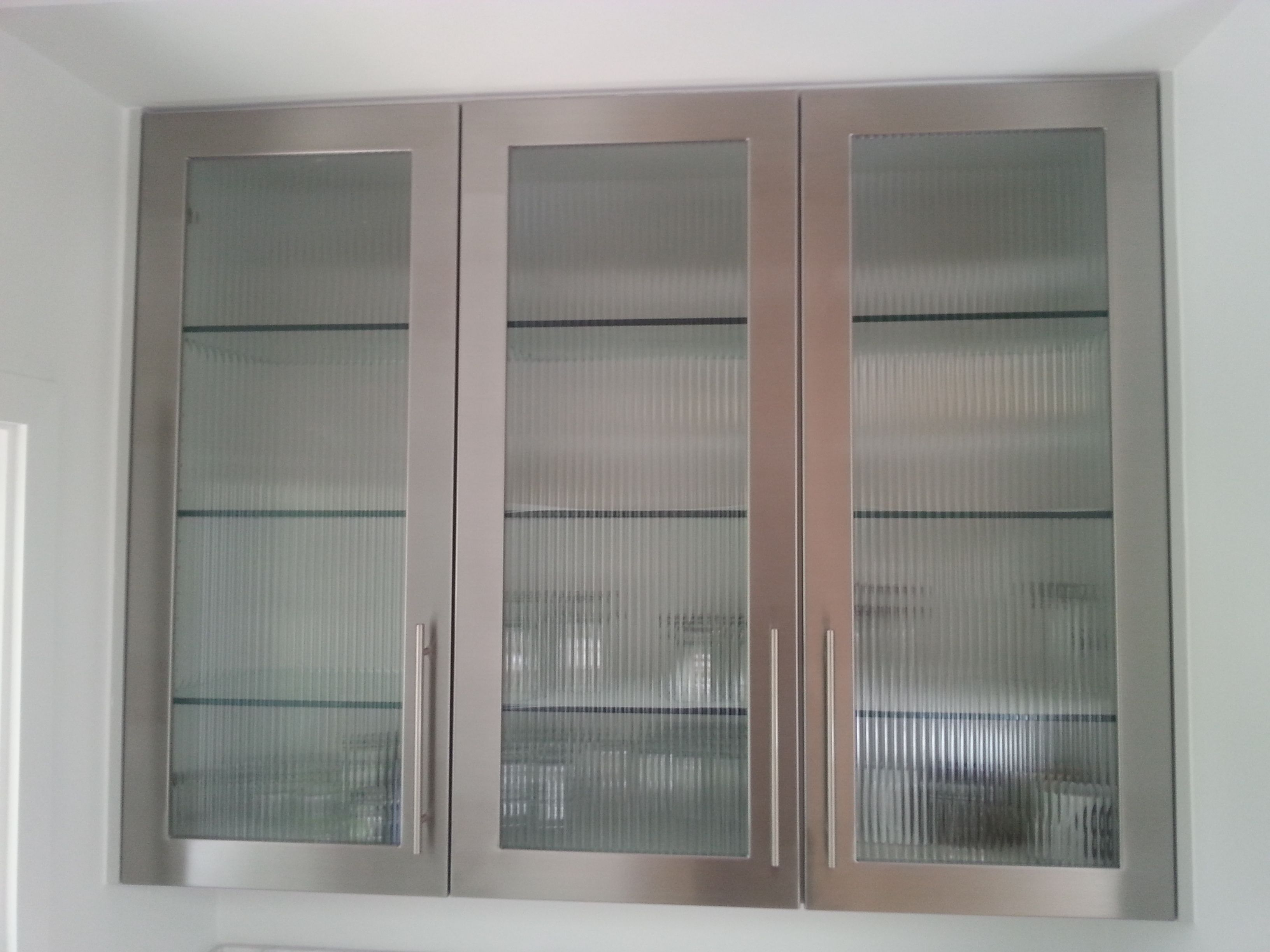 Stainless Steel Kitchen Cabinets With Glass Doors ...