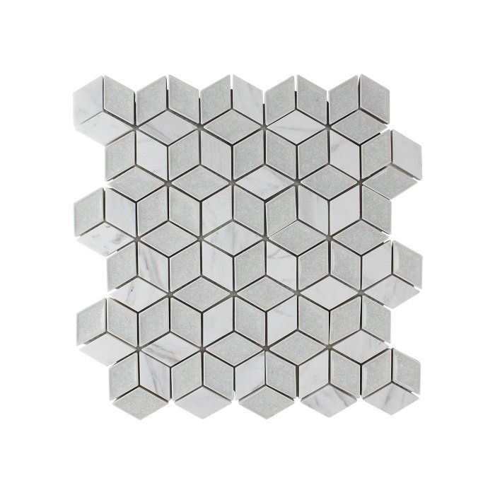 You Ll Love The Tessellation Geometric Glass Stone Blend Mosaic Tile In Ice At Wayfair Great Deals On All H Gray Tile Backsplash Mosaic Tiles Geometric Tiles