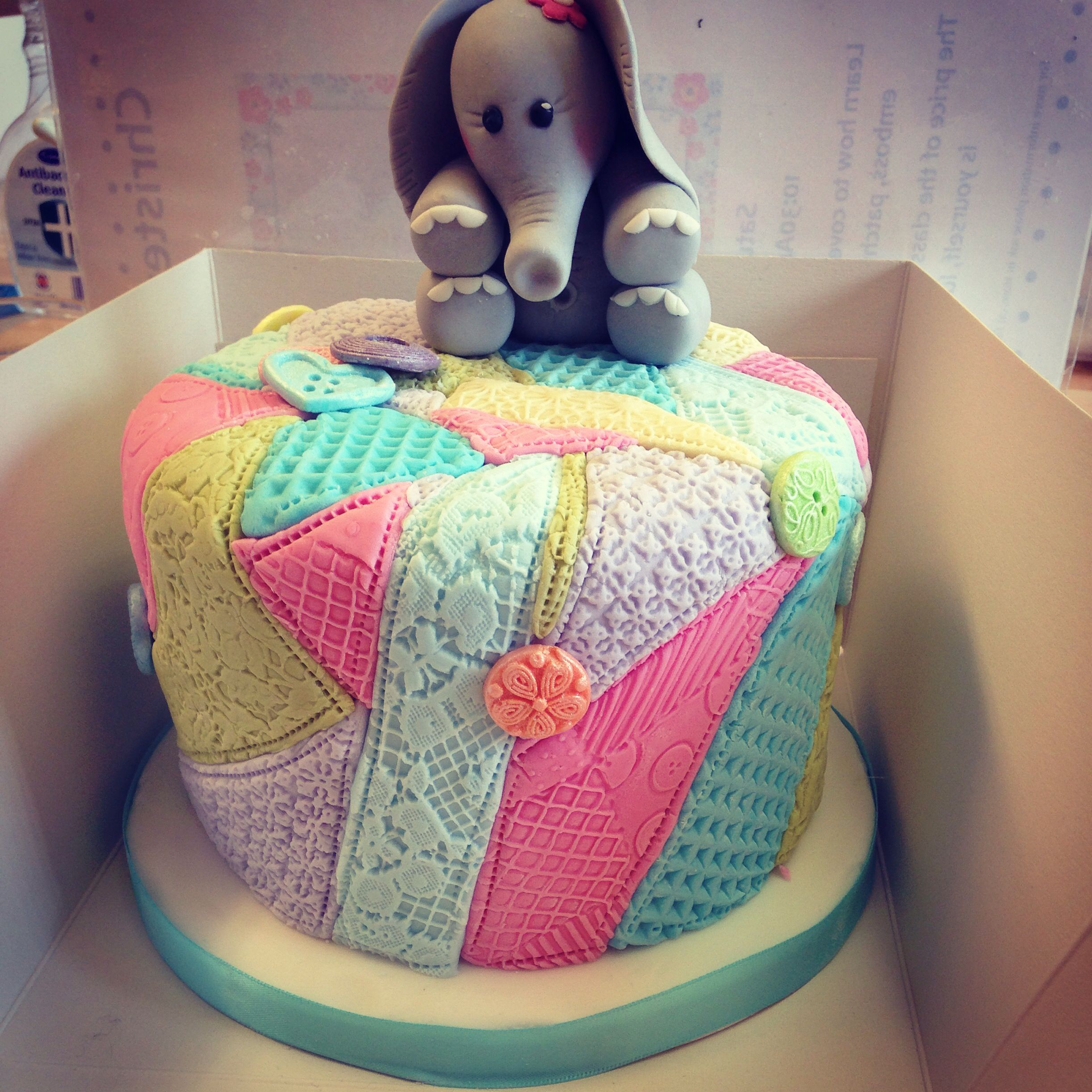 Quilted patchwork cake