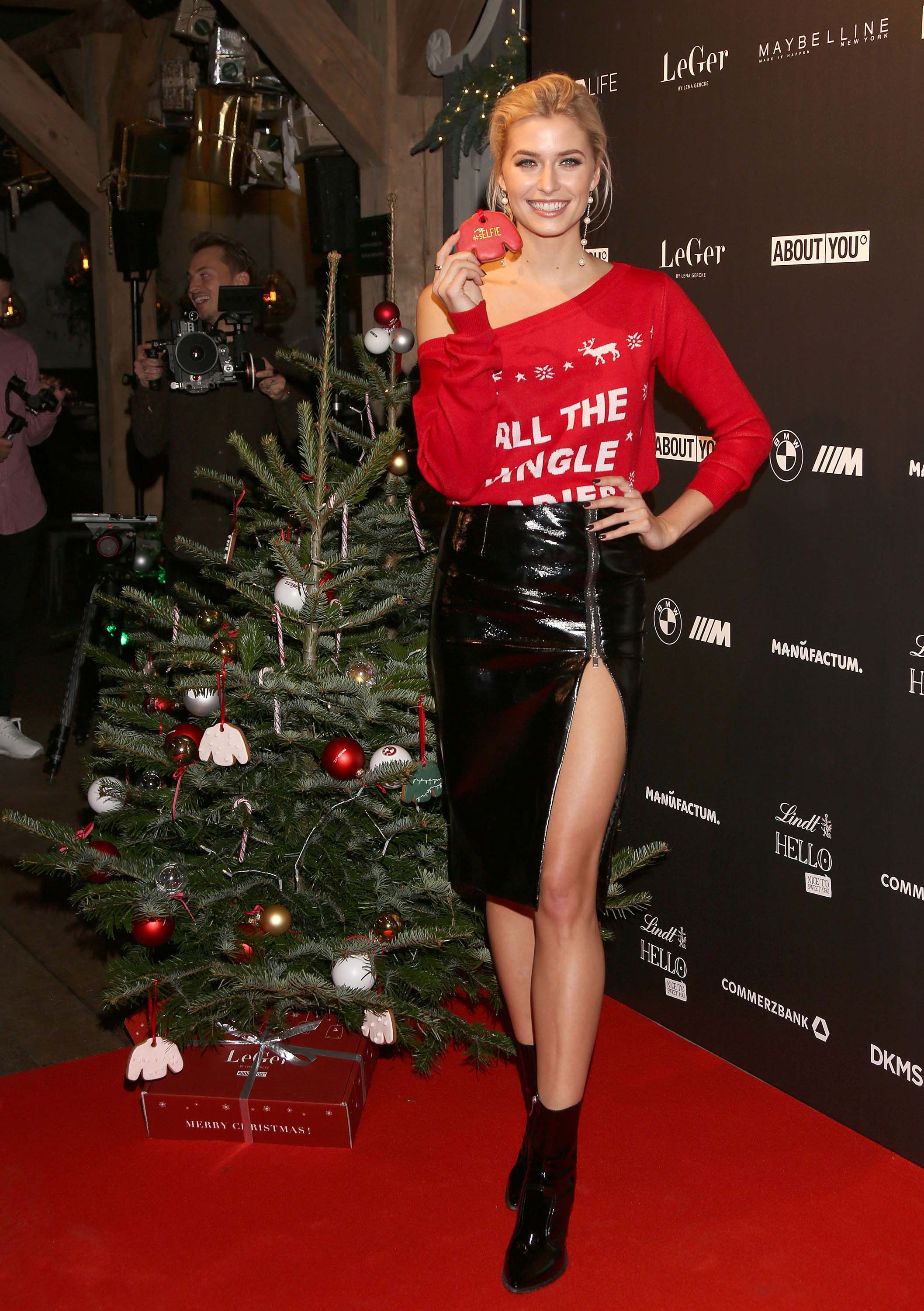 Lena Gercke Attends Christmas Dinner Party Fashion Hot