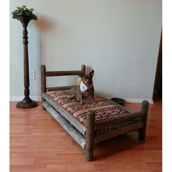 The Lincoln Log Dog Bed By Fartybarks On Etsy 150 00 Bed Dog