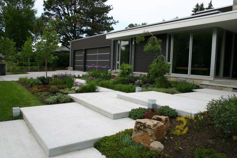 Jardin D Entrée Avec Déco Moderne Entrée Aménagement