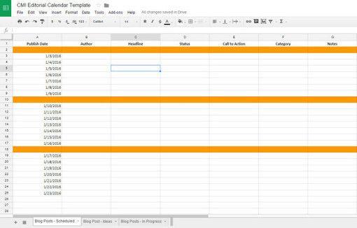 Editorial Calendar Tips Tools And Templates  Marketing