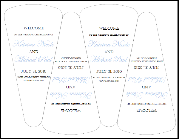 wedding program fan template free wedding program fan templates