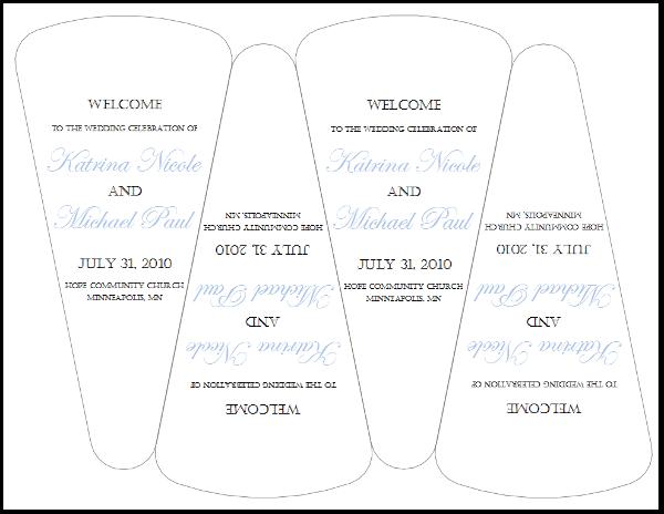 Wedding Program Fan Template Free Wedding Program Fan