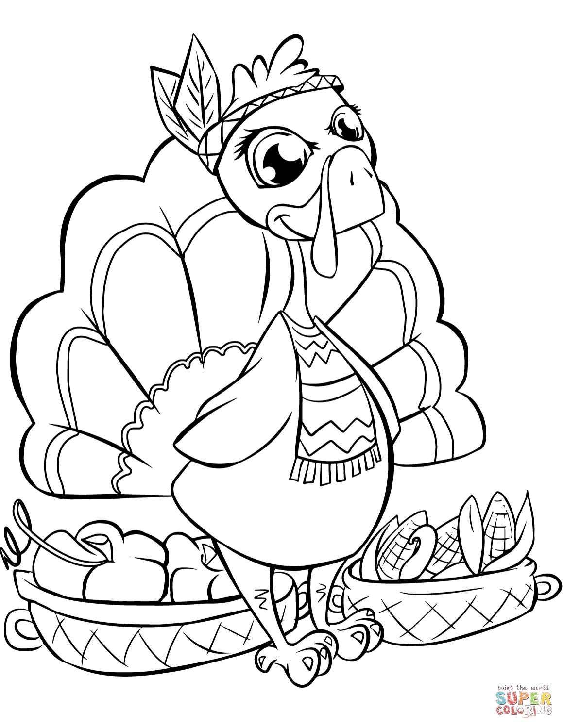 coloring pages prettyksgiving 2020