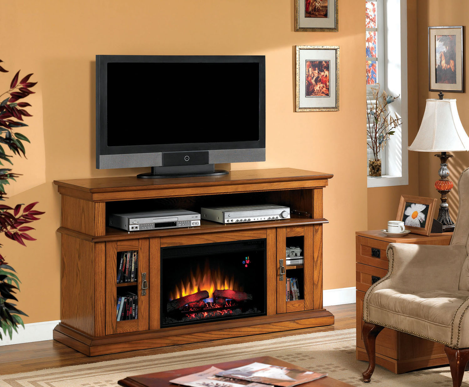 Classicflame Brookfield Electric Fireplace Twin Star Home