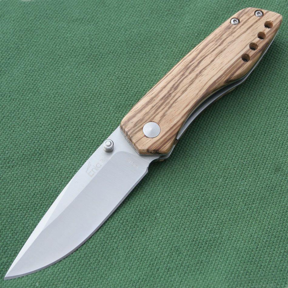 Enlan Bee Messer M011 Taschenmesser Einhandmesser Holz Griff in Sport, Camping & Outdoor, Werkzeug | eBay