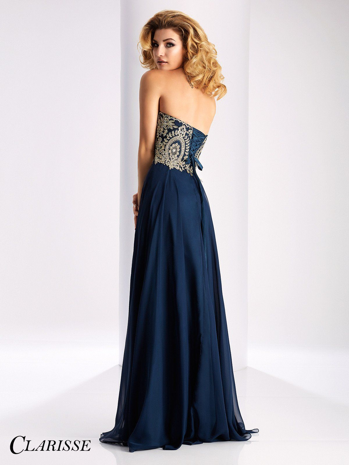 Clarisse prom navy strapless chiffon prom dress products