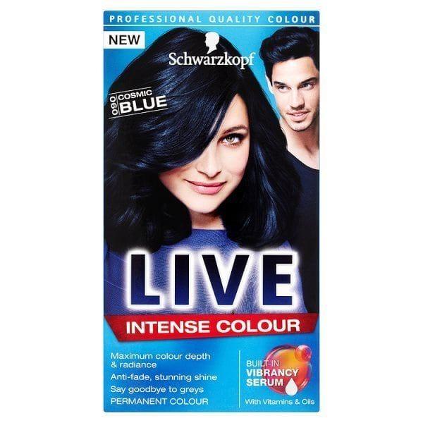 Schwarzkopf Live Intense Colour 090 Cosmic Blue Hair Dye Dyed