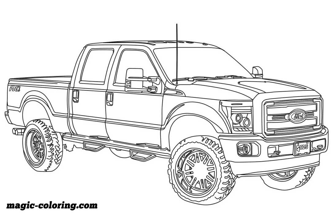 2014 Ford F250 Lifted Coloring Page Truck Coloring Pages Cars Coloring Pages Coloring Pages