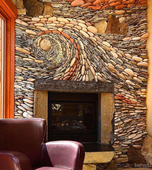 Attraktiv Amazing Stone Fireplace.
