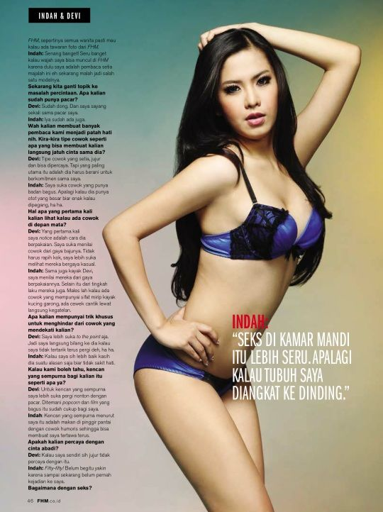 Hot Foto Alex Indah Dalam Majalah Fhm B