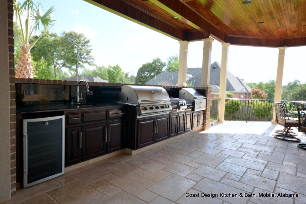 West Mobile Alabama Outdoor Patio Kitchen With Ge Monogram