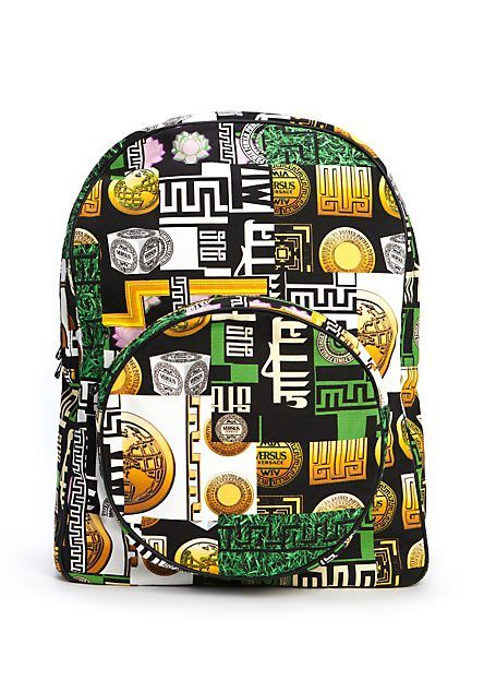M.I.A. x Versus Versace capsule collection. Bring the beat with this bold  and edgy backpack. 93f125ab776ab