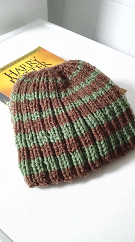 Bonnet homme Harry Potter laine écru et pourpre  Chapeau, bonnet par  miss,perles