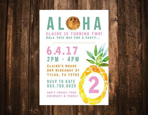 pineapple birthday invitation
