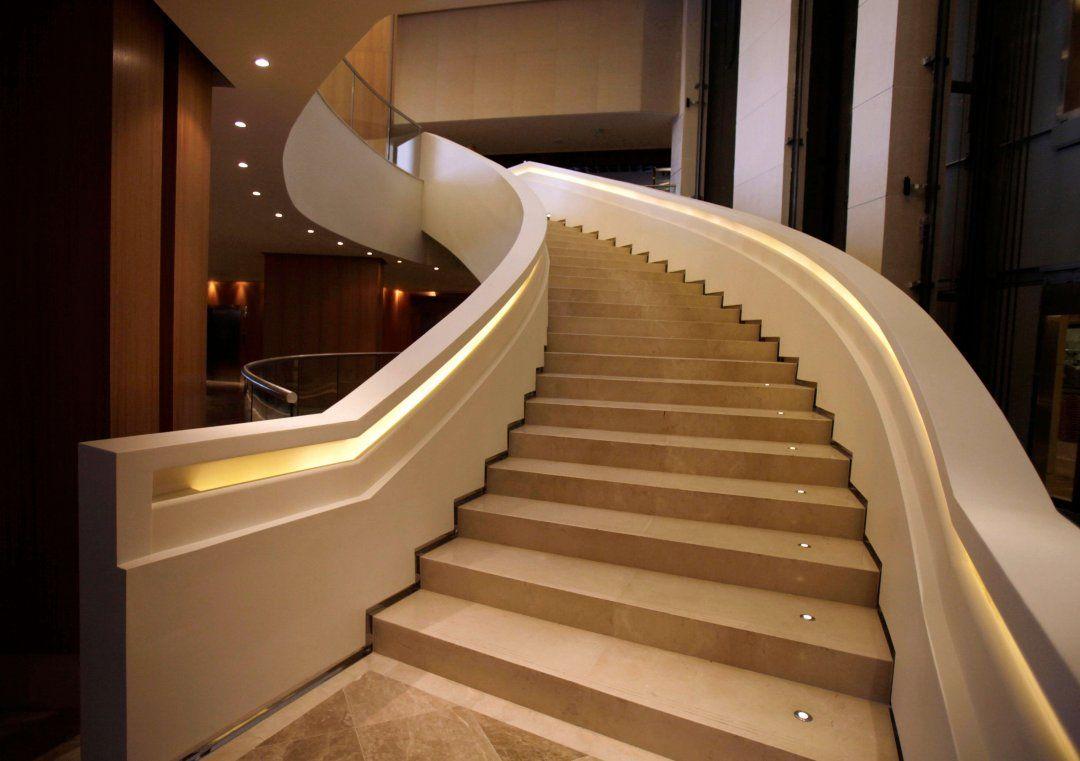 Pleasing Staircase Designs For Duplex House Villa Decoration