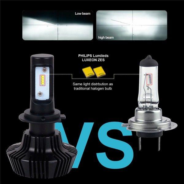 Just plug & play led headlights for vehicles. #headlights #ledlights #waterproof