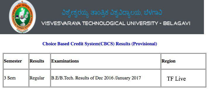result vtu ac in #cbcs result declared# VTU #B E/B tech 3rd Sem
