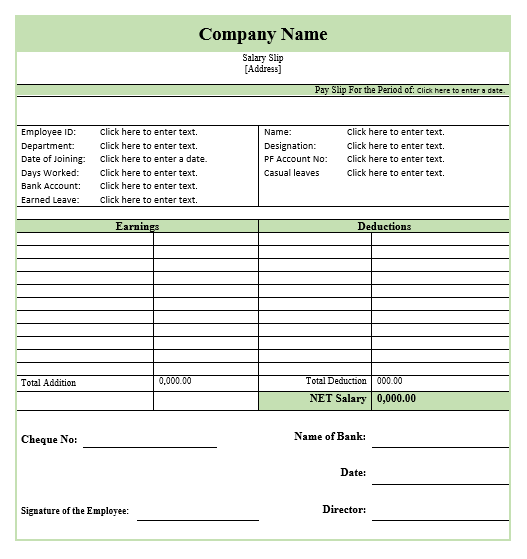 Salary Slip Template Survey Template Word Template Templates