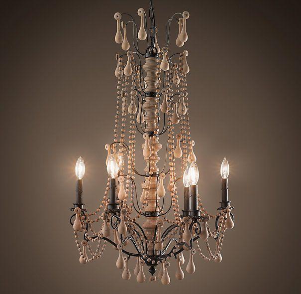 Baroque Wood Crystal Chandelier Large Ceiling Restoration Crystal Chandelier Wooden Chandelier Wood and crystal chandeliers