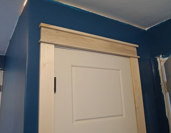 Craftsman door trim tutorial wood trim window and door for Over door decorative molding